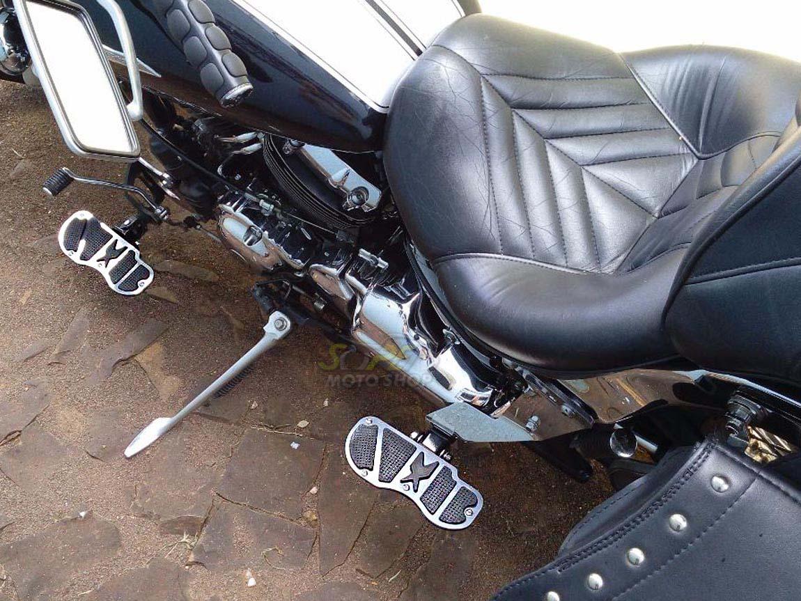 Kit Plataformas Dianteiras Fixas + Traseiras Articuladas Modelo Sport - Virago 535 - Yamaha