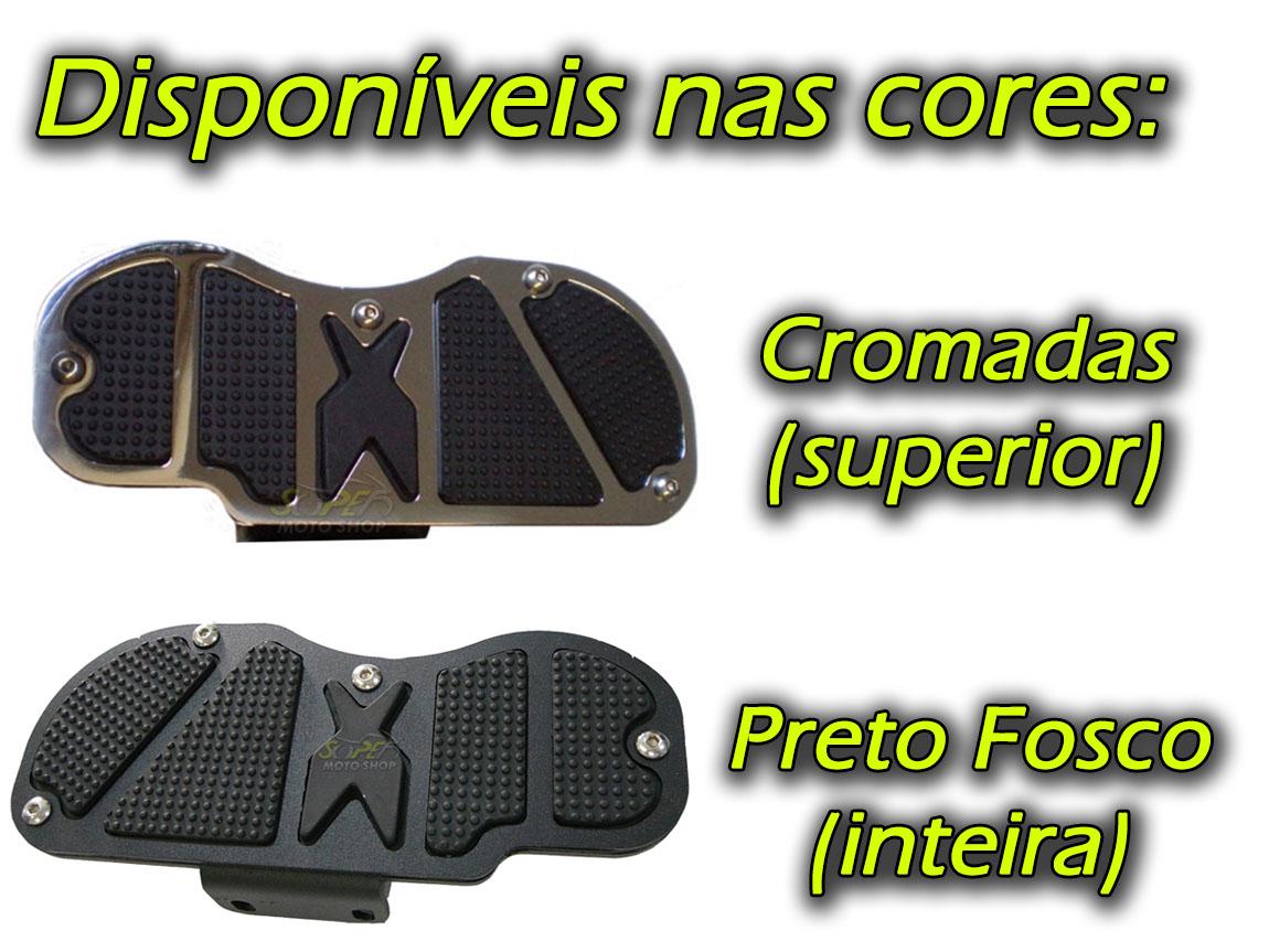 Kit Plataformas Dianteiras Fixas + Traseiras Articuladas Modelo Sport - Kansas 150 - Dafra