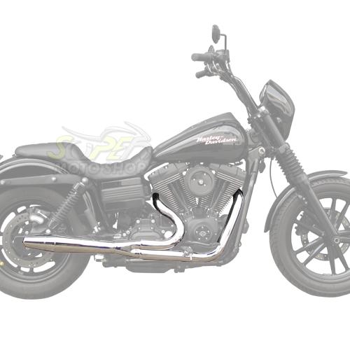 Escapamento Esportivo Torbal Modelo Thunderbolt 2X1 - HD Dyna Super Glide ano 2012 em Diante - Harley Davidson