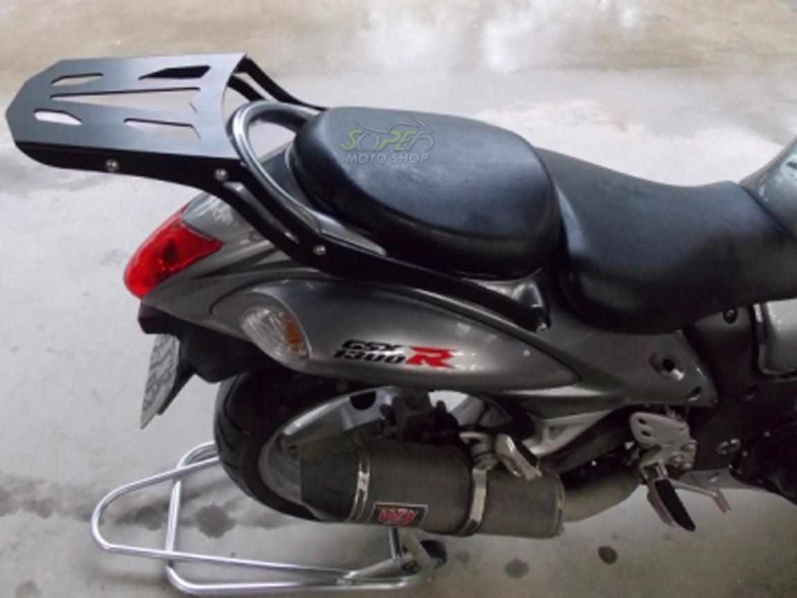 Bagageiro / Suporte Chapam em Chapa Preto - Hayabusa 1300 - Suzuki