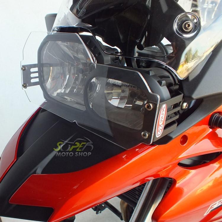 Protetor de Farol em Policarbonato Modelo Scam - F 700 GS - BMW