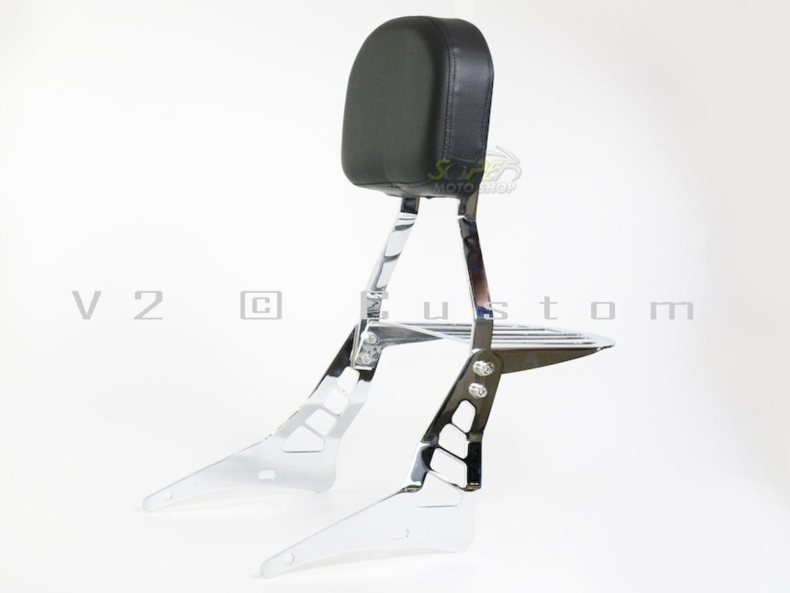Sissy Bar / Encosto Traseiro V2 Fixo Com Bagageiro - Bolt 250 - Shineray