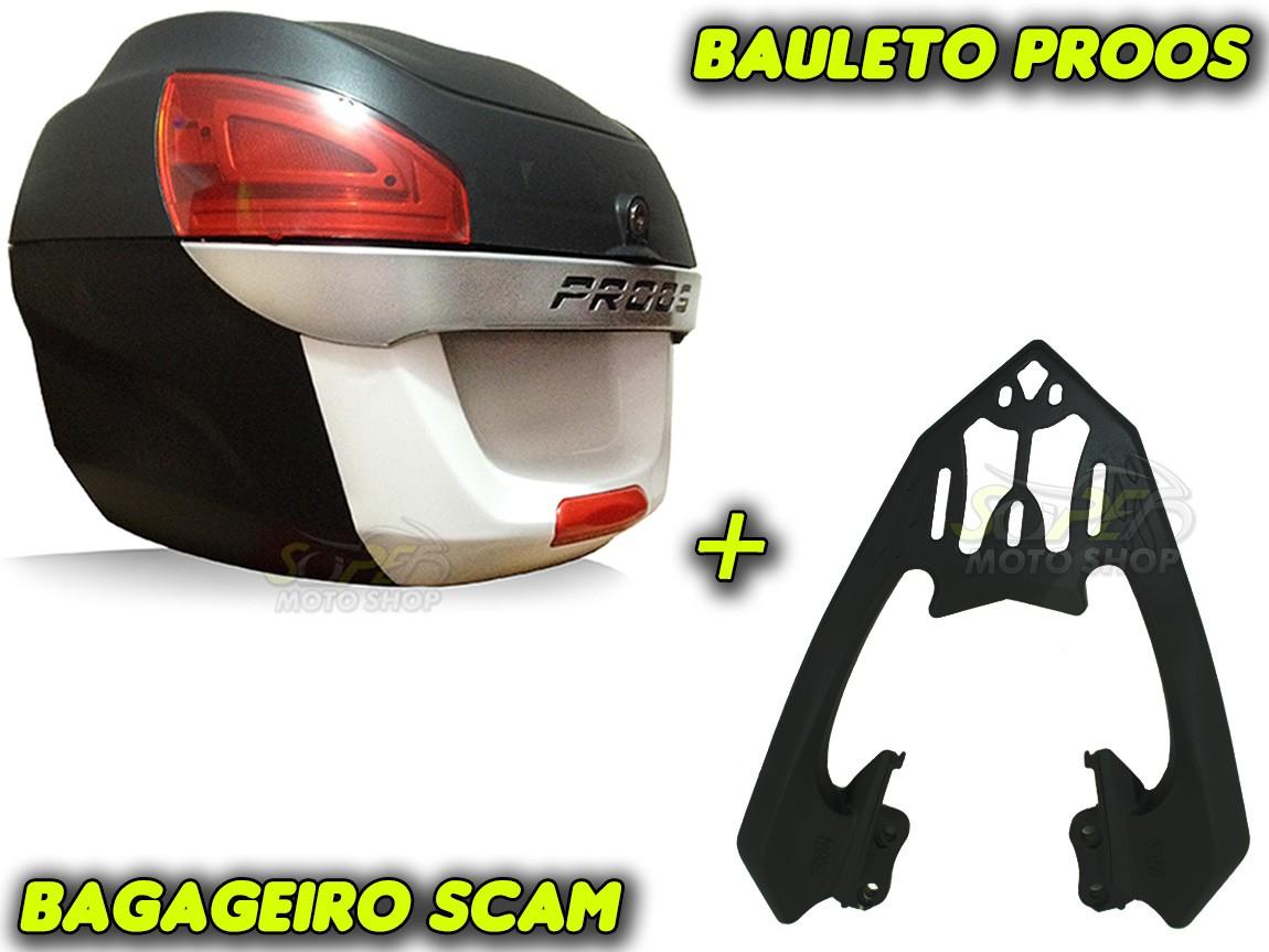 Kit Bauleto / Bau Traseiro Proos P290 (29 Litros) + Bagageiro Scam - Twister CB 250 2016 em Diante - Honda