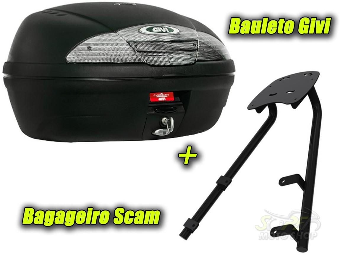 Kit Bauleto / Bau Traseiro Givi 45 Litros + Bagageiro Scam - NC 750 X ano 2016 em Diante - Honda