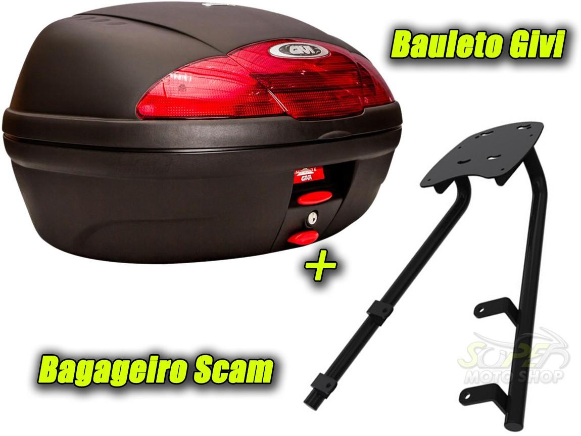 Kit Bauleto / Bau Traseiro Givi 45 Litros + Bagageiro Scam - CB 500 X - Honda