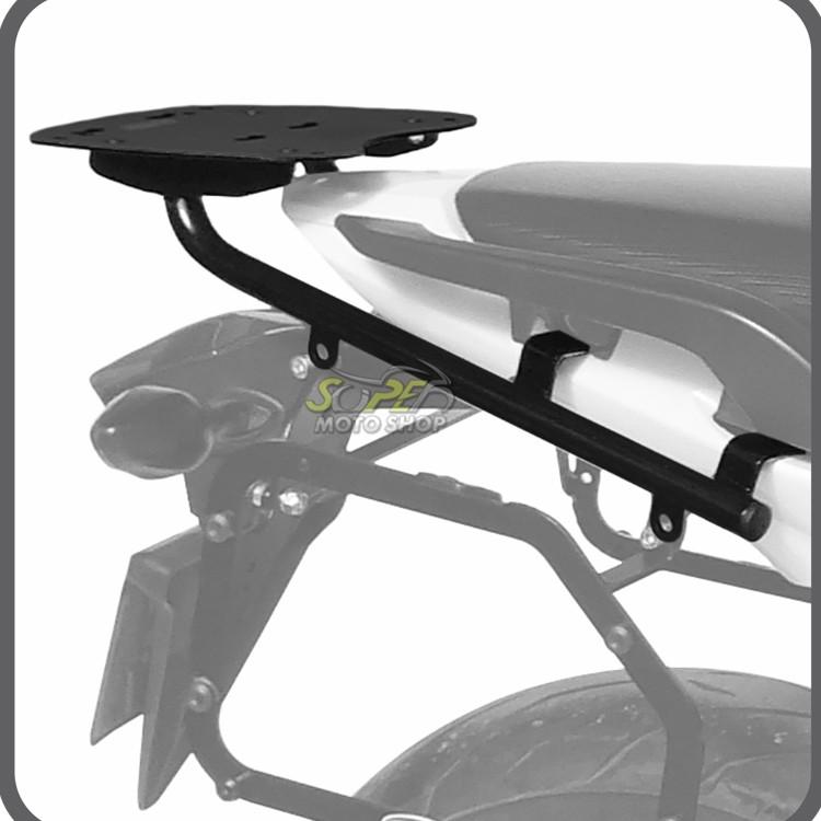 Kit Baú / Bauleto Lateral Side Case GIVI Modelo E-21 (Par) + Suporte Scam - NC 700/750 X ano 2016 em Diante - Honda