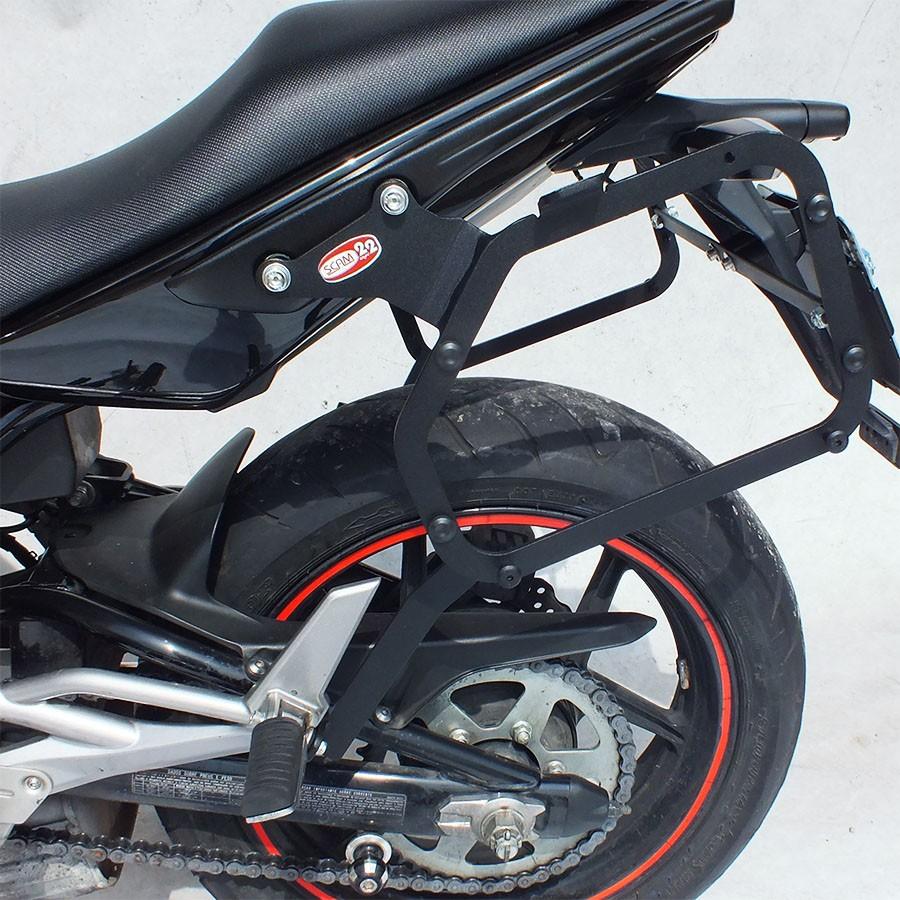 Suporte Bauletos Laterais Scam - ER-6N até 2012 - Kawasaki
