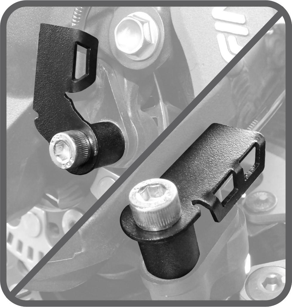 Protetor do Sensor ABS Scam Preto - Versys 650 / Tourer ano 2015 em Diante - Kawasaki