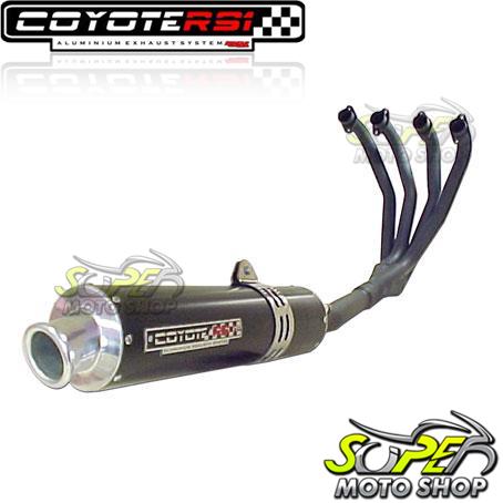 Escape / Ponteira Coyote RS1 Aluminio Redondo 4X1 - CBX 750 1987 até 1994 - Preto - Honda