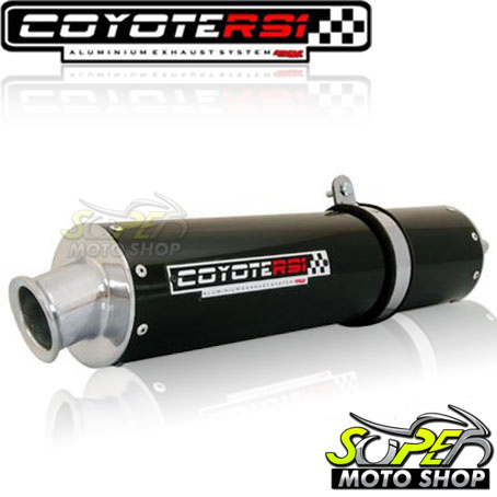 Escape / Ponteira Coyote RS1 Aluminio Redondo CBX Strada 200 1998 até 2002 - Preto - Honda