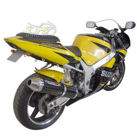 Escape / Ponteira Coyote SS1 Alumínio GSX-R Srad 1000 até 2005 - Oval Preto Black - Suzuki