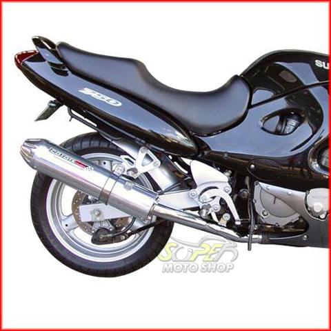 Escape / Ponteira Coyote SS1 Alumínio GSX 750 F - Oval Preto Black - Suzuki