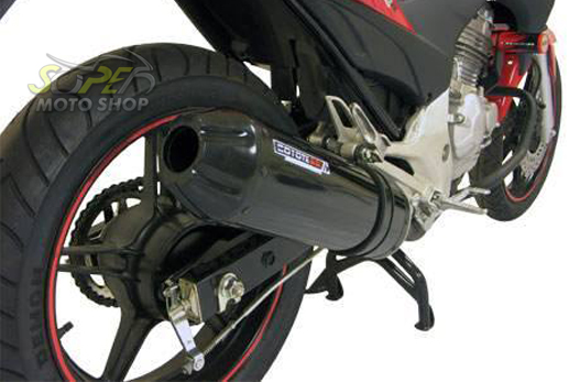 Escape / Ponteira Coyote SS1 Alumínio STX Motard 200 - Oval Preto Black - Sundown