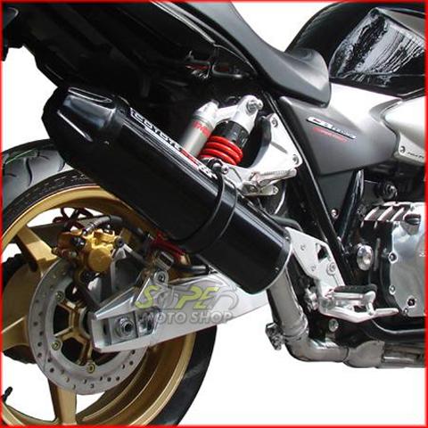 Escape / Ponteira Coyote SS1 Alumínio CB 1300 - Redondo Preto Black - Honda