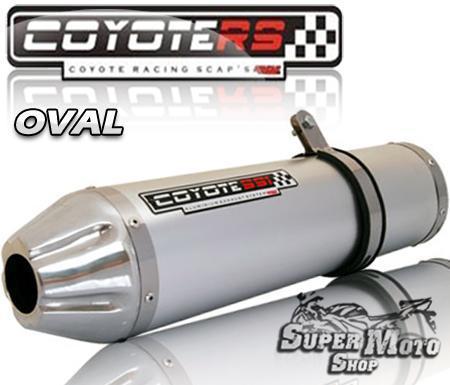 Escape / Ponteira Coyote SS1 Alumínio Bandit 1200 N/S 2004 até 2006 - Oval Polido - Suzuki