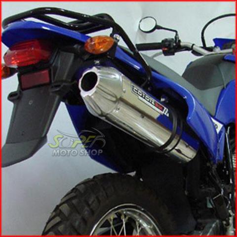 Escape / Ponteira Coyote SS1 Alumínio Oval Polido -  Lander XTZ 250 até 2018 - Yamaha
