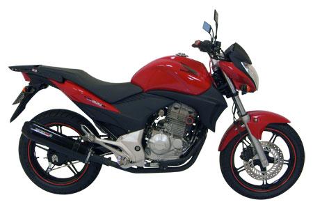 Escape / Ponteira Coyote SS1 Alumínio CB 300 R - Redondo Preto - Honda