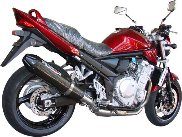 Escape / Ponteira Coyote SS1 Alumínio Bandit 1200 N/S 2007 em Diante - Oval Preto - Suzuki