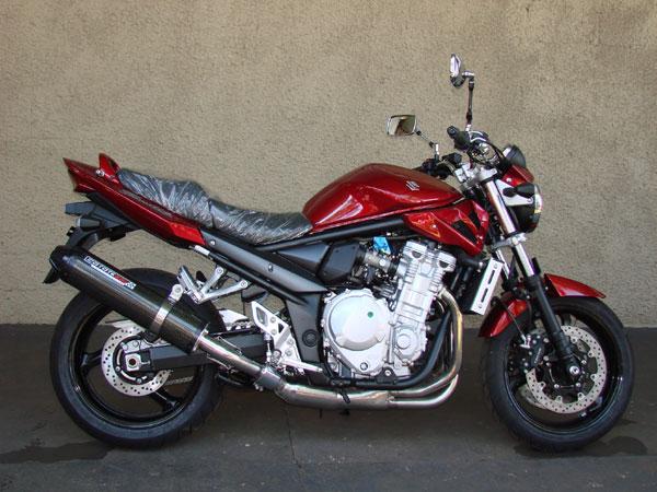 Escape / Ponteira Coyote SS1 Alumínio Bandit 650 N/S até 2008 - Oval Preto - Suzuki