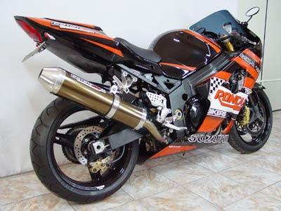 Escape / Ponteira Coyote SS1 Alumínio GSX-R Srad 1000 até 2005 - Oval Preto - Suzuki