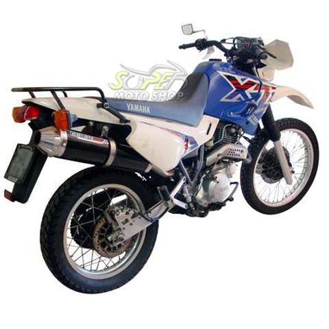 Escape / Ponteira Coyote SS1 Alumínio XT 600 1997 até 2004 - Redondo Preto Black - Yamaha
