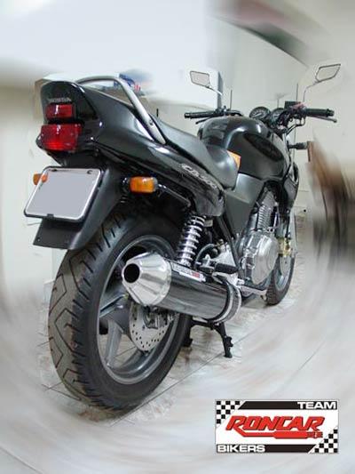 Escape / Ponteira Coyote SS1 Alumínio CB 500 1997 até 2005 - Redondo Preto - Honda