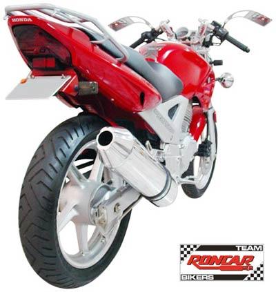 Escape / Ponteira Coyote SS1 Alumínio CBX Twister 250 - Oval Polido - Honda