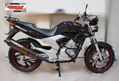 Escape / Ponteira Coyote SS1 Alumínio Fazer 250 até 2009 - Redondo Polido - Yamaha