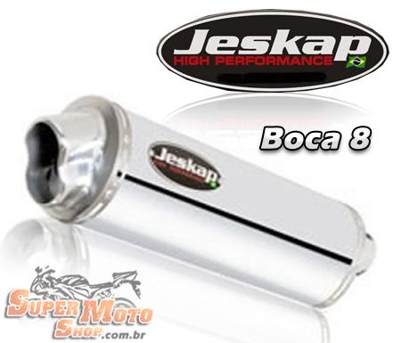 Escape / Ponteira Jeskap Aluminio Polido Boca 8 - NX 400 Falcon até 2005