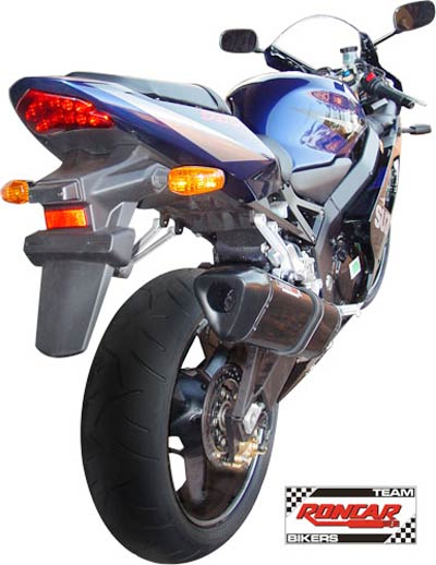 Escape / Ponteira Coyote TRS Tri-Oval Alumínio GSX-R Srad 750 2001 até 2006 - Preto Black - Suzuki