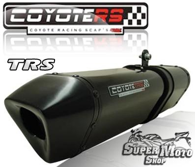 Escape / Ponteira Coyote TRS Tri-oval Aluminio Preto Black - GSX 750 Srad Ano 2001 até 2006 - Suzuki