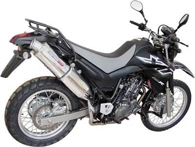 Escape / Ponteira Coyote RS3 Alumínio PAR Oval XT 660 R - Preto - Yamaha