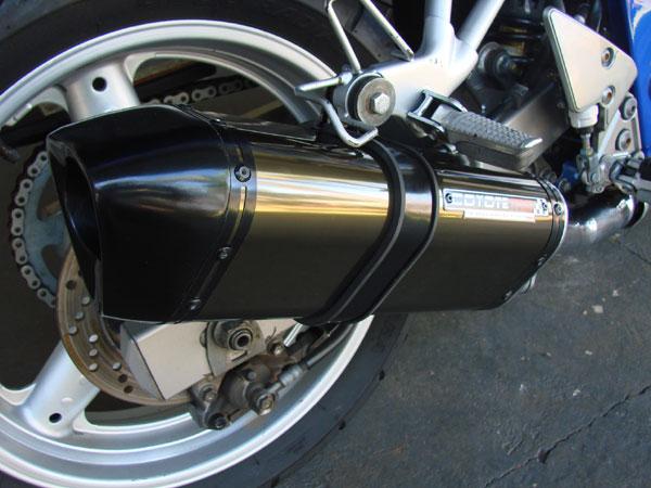 Escape / Ponteira Coyote TRS Tri-Oval Alumínio Bandit 600 N - Preto Black - Suzuki