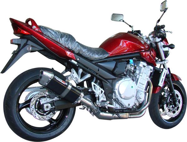 Escape / Ponteira Coyote TRS Tri-Oval 300mm Alumínio Bandit 1200 N/S 2007/2008 - Preto Black - Suzuki