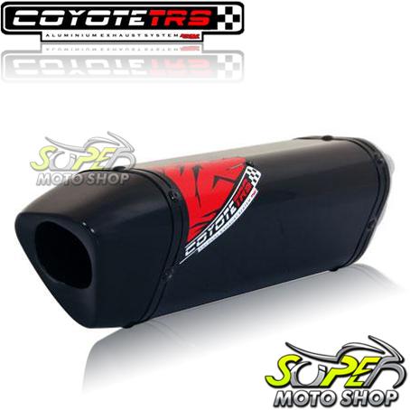 Escape / Ponteira Coyote TRS Tri-Oval 300mm Alumínio GSX-R Srad 1000 2006 / 2007 - Preto Black - Suzuki