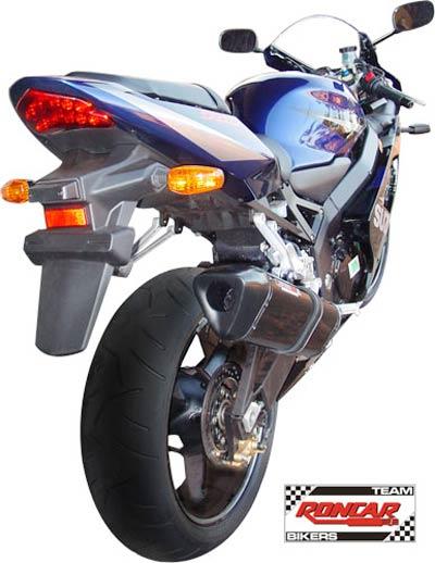 Escape / Ponteira Coyote TRS Tri-Oval 300mm Alumínio GSX-R Srad 750 2001 até 2006 - Preto Black - Suzuki