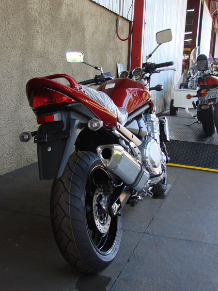 Escape / Ponteira Coyote TRS Tri-Oval Alumínio Bandit 1200 N/S 2004 até 2006 - Polido - Suzuki