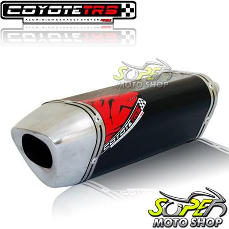 Escape / Ponteira Coyote TRS Tri-Oval 300mm Alumínio GSX 750 F 1998 em Diante - Preto - Suzuki
