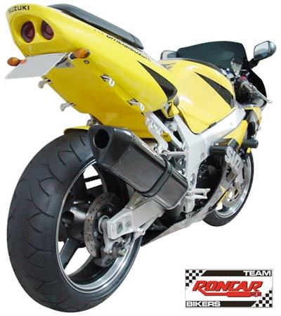 Escape / Ponteira Coyote TRS Tri-Oval Alumínio GSX-R Srad 750 2001 até 2006 - Polido - Suzuki