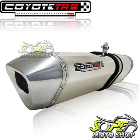 Escape / Ponteira Coyote TRS Tri-Oval Alumínio CG 125 Fan 2009 até 2013 / 2014 em Diante - Polido - Honda