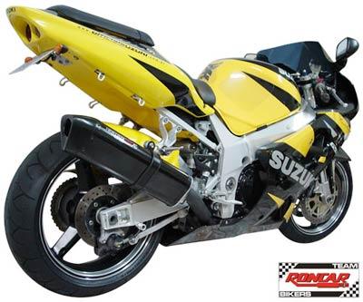 Escape / Ponteira Coyote TRS Tri-Oval Alumínio GSX-R Srad 750 2001 até 2006 - Preto - Suzuki