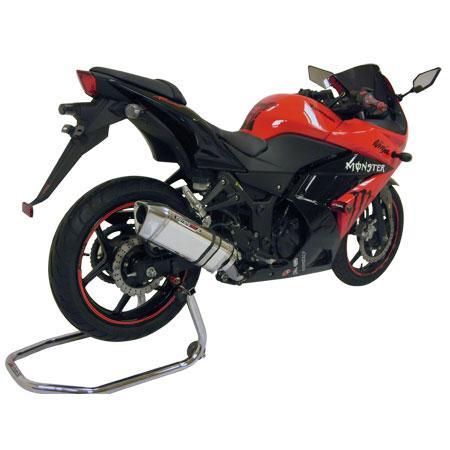 Escape / Ponteira Coyote TRS Tri-Oval Alumínio Ninja 250 R Todos os Anos - Preto - Kawasaki