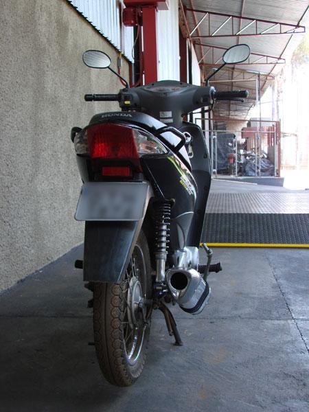 Escape / Ponteira Coyote TRS Tri-Oval Alumínio Biz 125 até 2010 - Preto Black - Honda