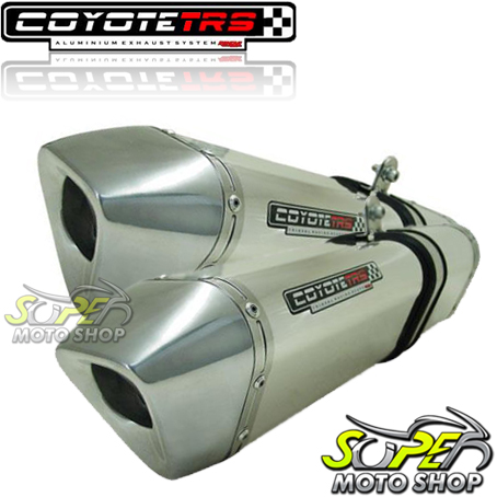 Escape / Ponteira Coyote TRS Tri-Oval Alumínio PAR GSX-R Hayabusa 1300 até 2008 - Polido - Suzuki