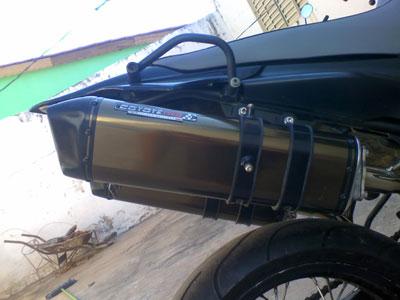 Escape / Ponteira Coyote TRS Tri-Oval Alumínio PAR - XT 660 R - Polido - Yamaha