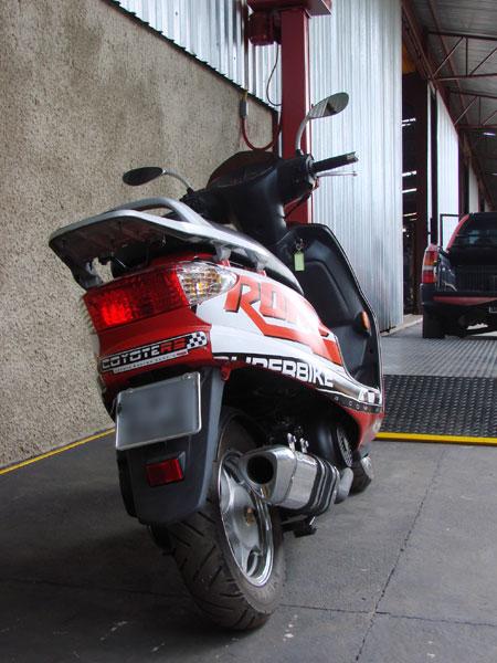 Escape / Ponteira Coyote TRS Tri-Oval Alumínio Burgman 125 até 2010 - Polido - Suzuki