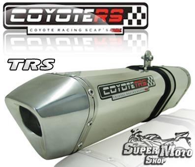Escape / Ponteira Coyote TRS Tri-oval Aluminio Polido - Bandit N/S 1200 Até ano 2006 - Suzuki