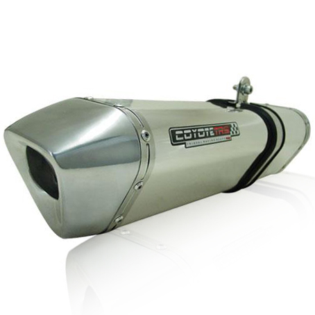 Escape / Ponteira Coyote TRS Tri-Oval Alumínio CB 500 1997 até 2005 - Polido - Honda
