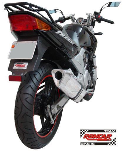 Escape / Ponteira Coyote TRS Tri-Oval Alumínio Fazer 250 até 2009 - Polido - Yamaha