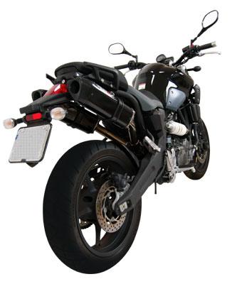 Escape / Ponteira Coyote TRS Tri-Oval Alumínio PAR MT-03 - Preto Black - Yamaha